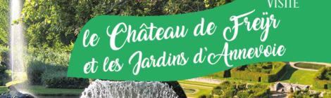 Visite: le Château de Freÿr et les Jardins d'Annevoie