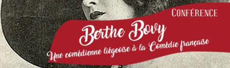 [Conférence] Berthe Bovy